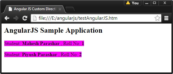 AngularJS Custom Directives