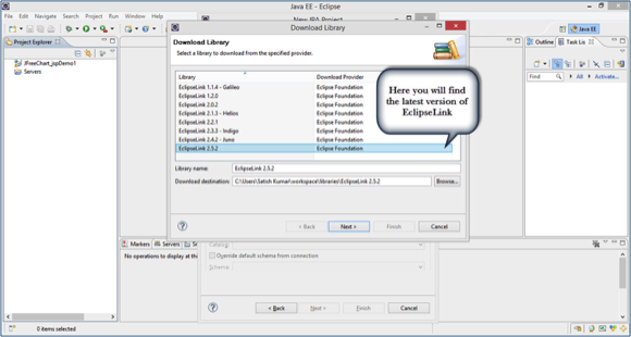 Download Library Dialog Box