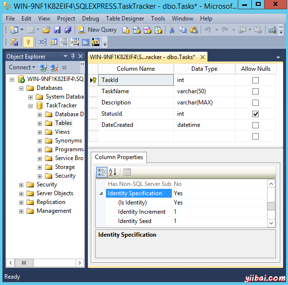 Creating a table in SQL Server - step 2