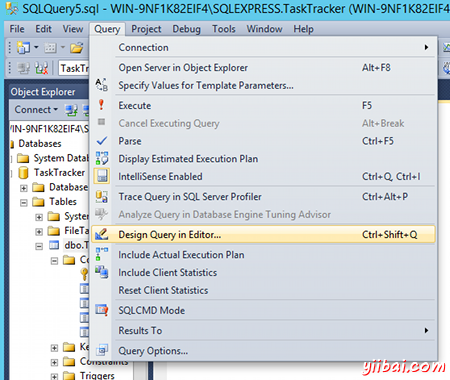 Accessing the Query Designer